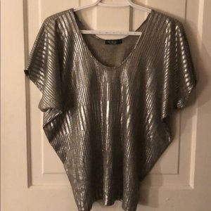 Tops - Metallic silver t-shirt - worn once